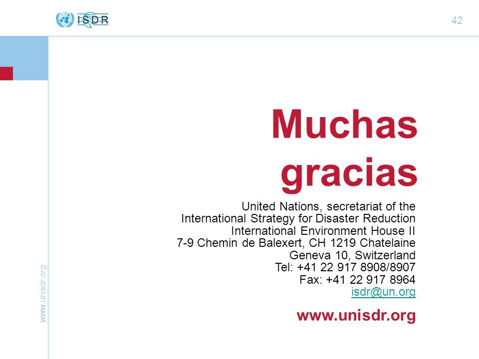 Muchas gracias www.unisdr.org