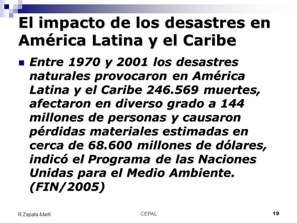 El impacto de los desastres en América Latina y el Caribe