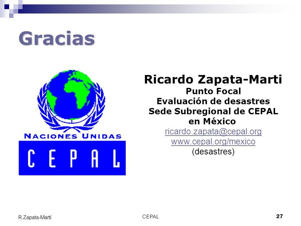 Evaluación de desastres Sede Subregional de CEPAL