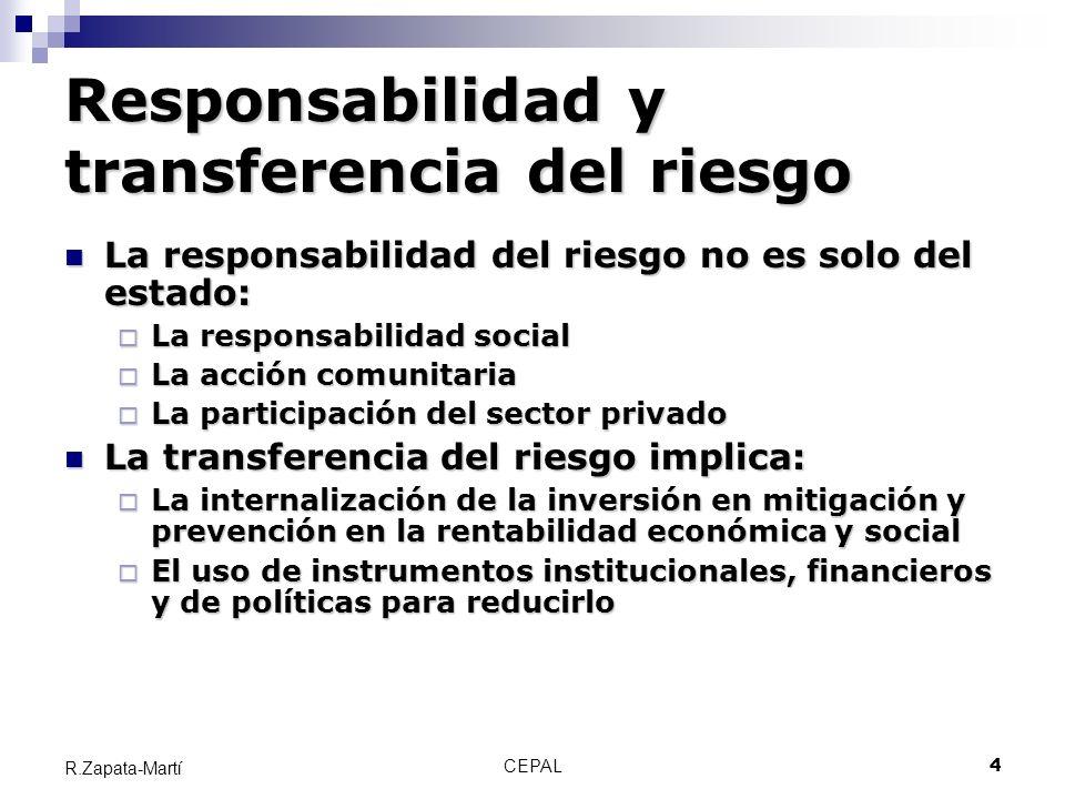 Responsabilidad y transferencia del riesgo