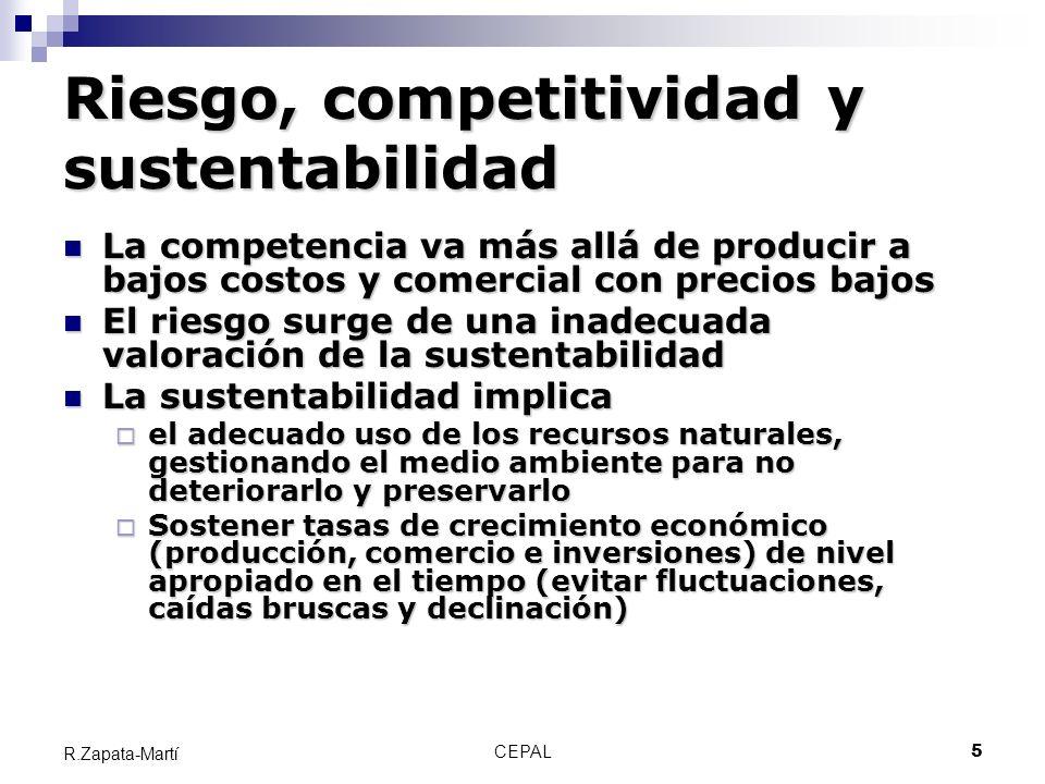 Riesgo, competitividad y sustentabilidad