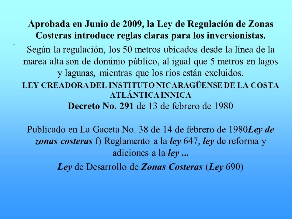 Ley de Desarrollo de Zonas Costeras (Ley 690)