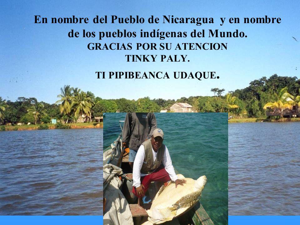 En nombre del Pueblo de Nicaragua y en nombre de los pueblos indígenas del Mundo.