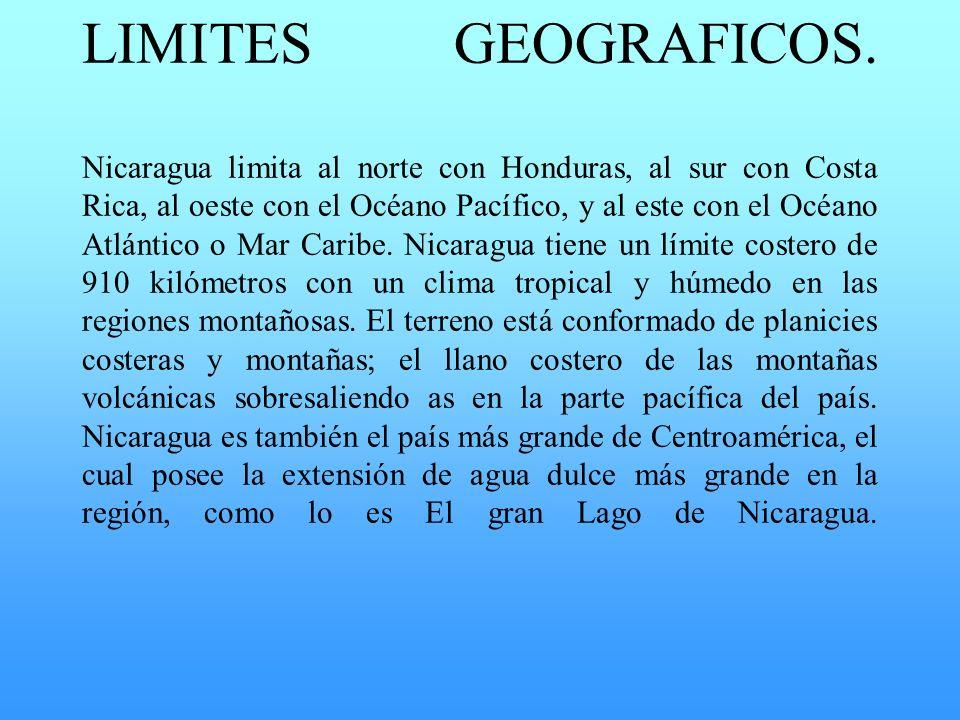 LIMITES GEOGRAFICOS.