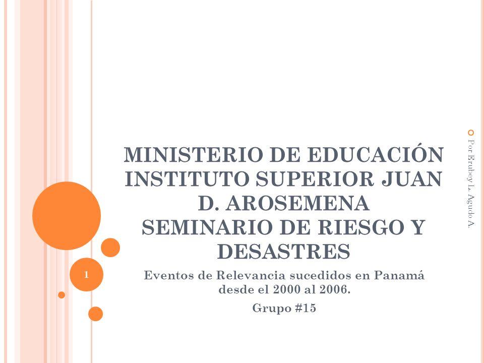 Eventos de Relevancia sucedidos en Panamá desde el 2000 al 2006.