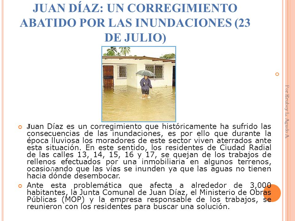 JUAN DÍAZ: UN CORREGIMIENTO ABATIDO POR LAS INUNDACIONES (23 DE JULIO)