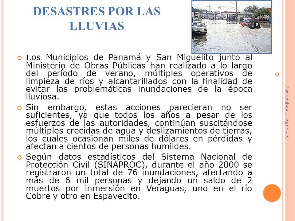 DESASTRES POR LAS LLUVIAS