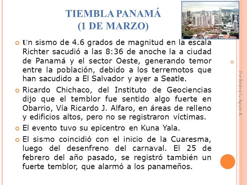 TIEMBLA PANAMÁ (1 DE MARZO)