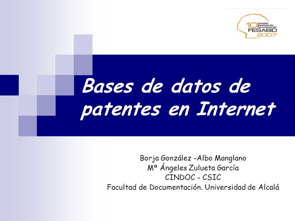 Bases de datos de patentes en Internet