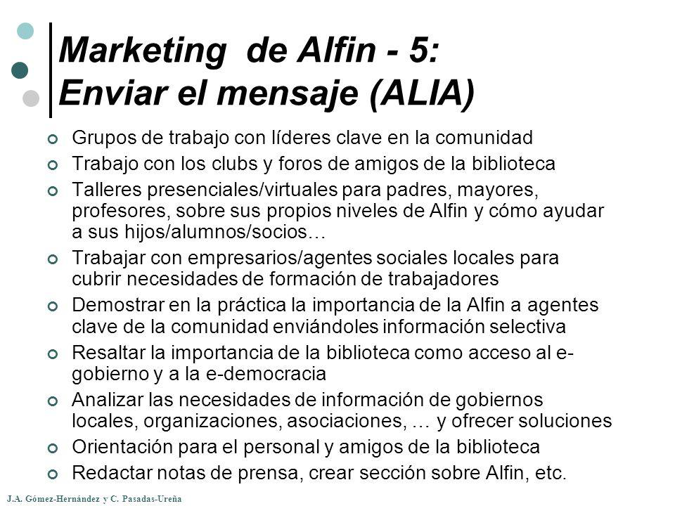 Marketing de Alfin - 5: Enviar el mensaje (ALIA)