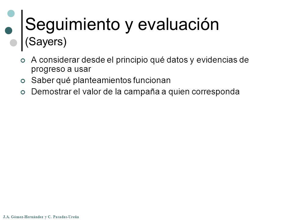 Seguimiento y evaluación (Sayers)