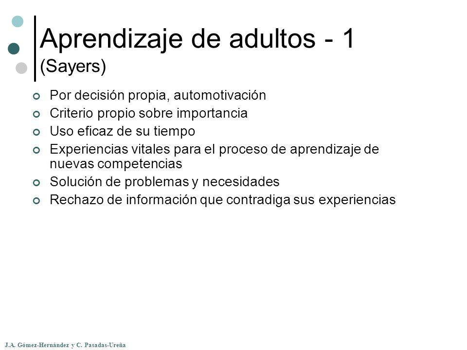 Aprendizaje de adultos - 1 (Sayers)