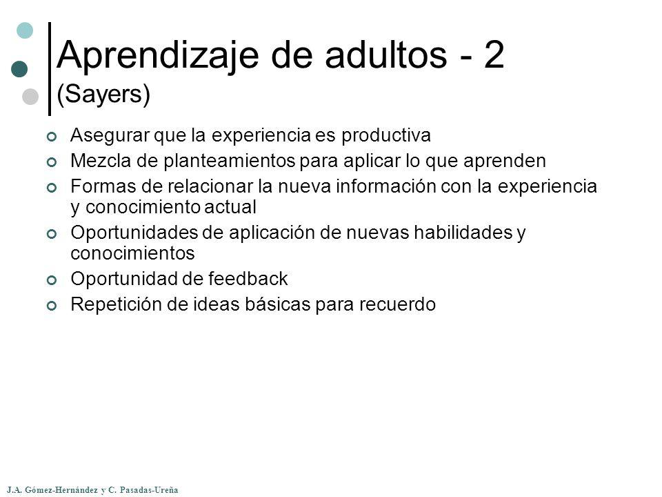 Aprendizaje de adultos - 2 (Sayers)