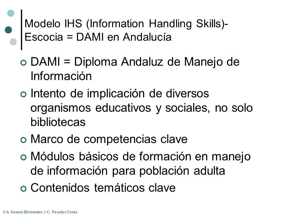 Modelo IHS (Information Handling Skills)-Escocia = DAMI en Andalucía