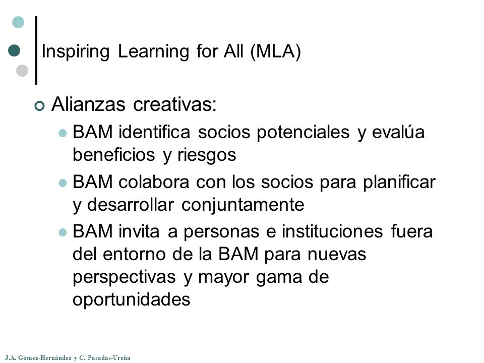 Inspiring Learning for All (MLA)