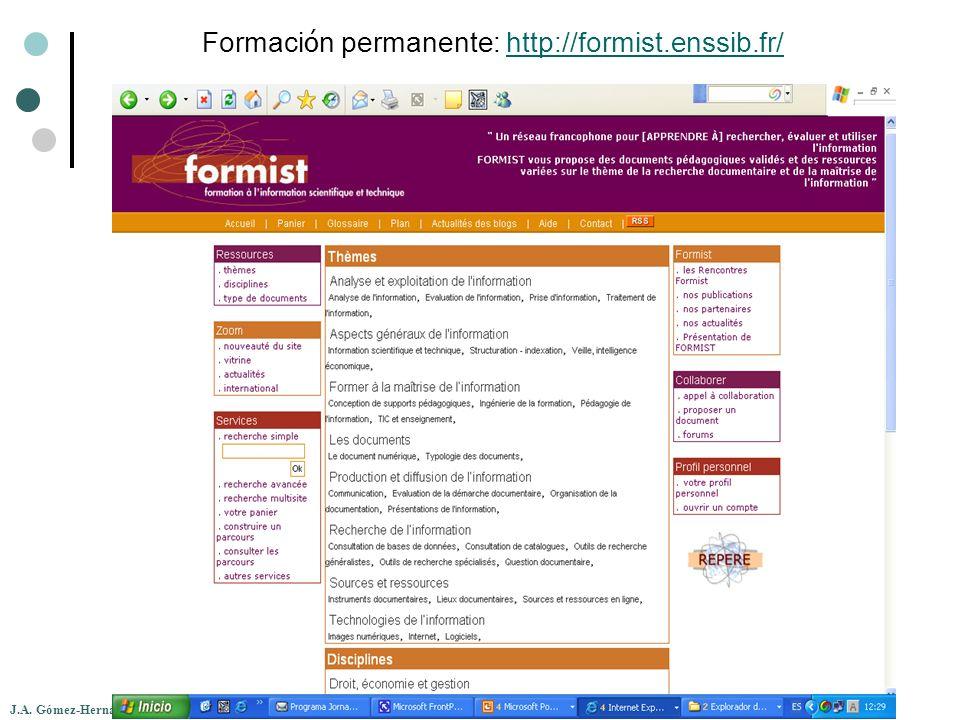 Formación permanente: http://formist.enssib.fr/