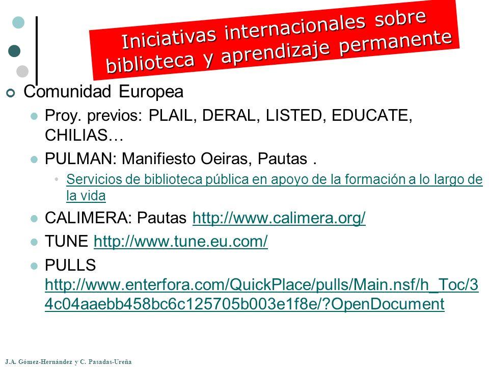 Iniciativas internacionales sobre biblioteca y aprendizaje permanente