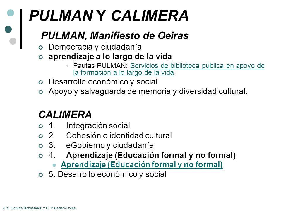 PULMAN Y CALIMERA PULMAN, Manifiesto de Oeiras CALIMERA