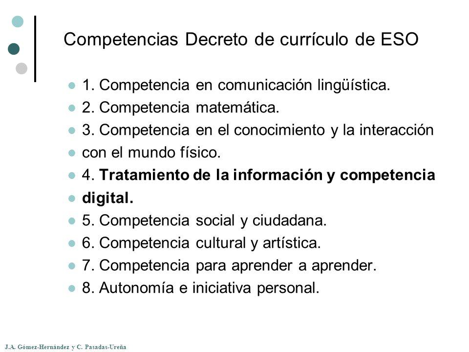 Competencias Decreto de currículo de ESO