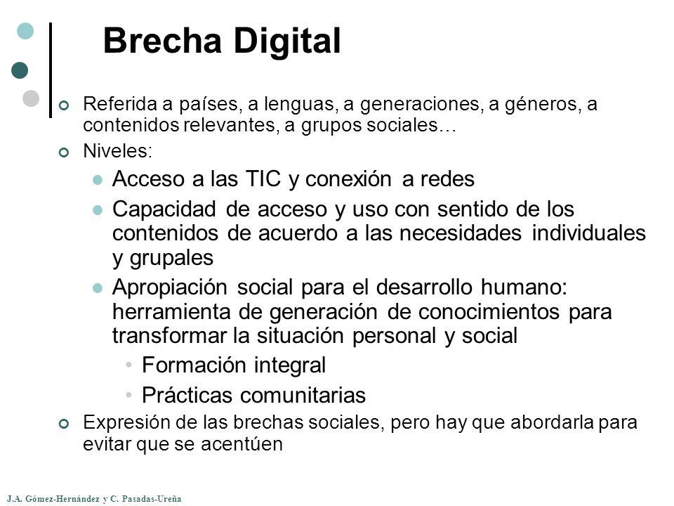 Brecha Digital Acceso a las TIC y conexión a redes