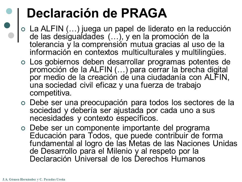 Declaración de PRAGA