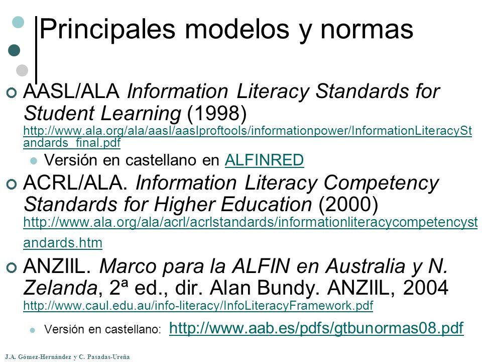Principales modelos y normas