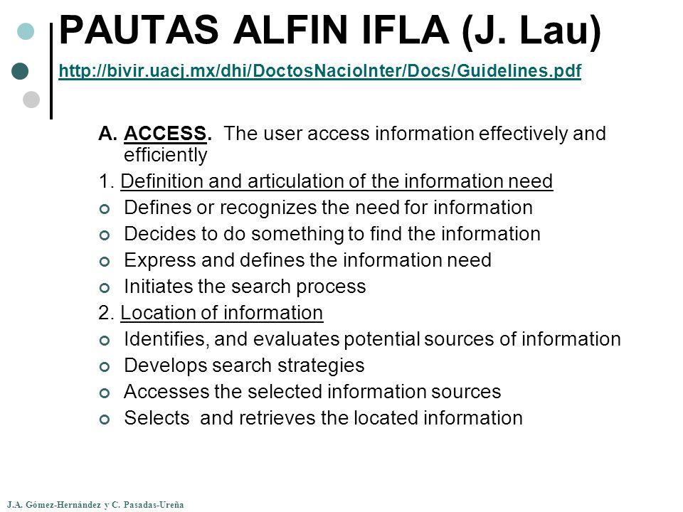 PAUTAS ALFIN IFLA (J. Lau) http://bivir. uacj