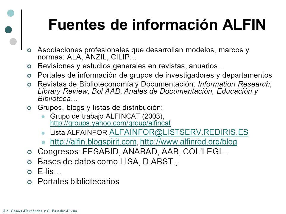 Fuentes de información ALFIN