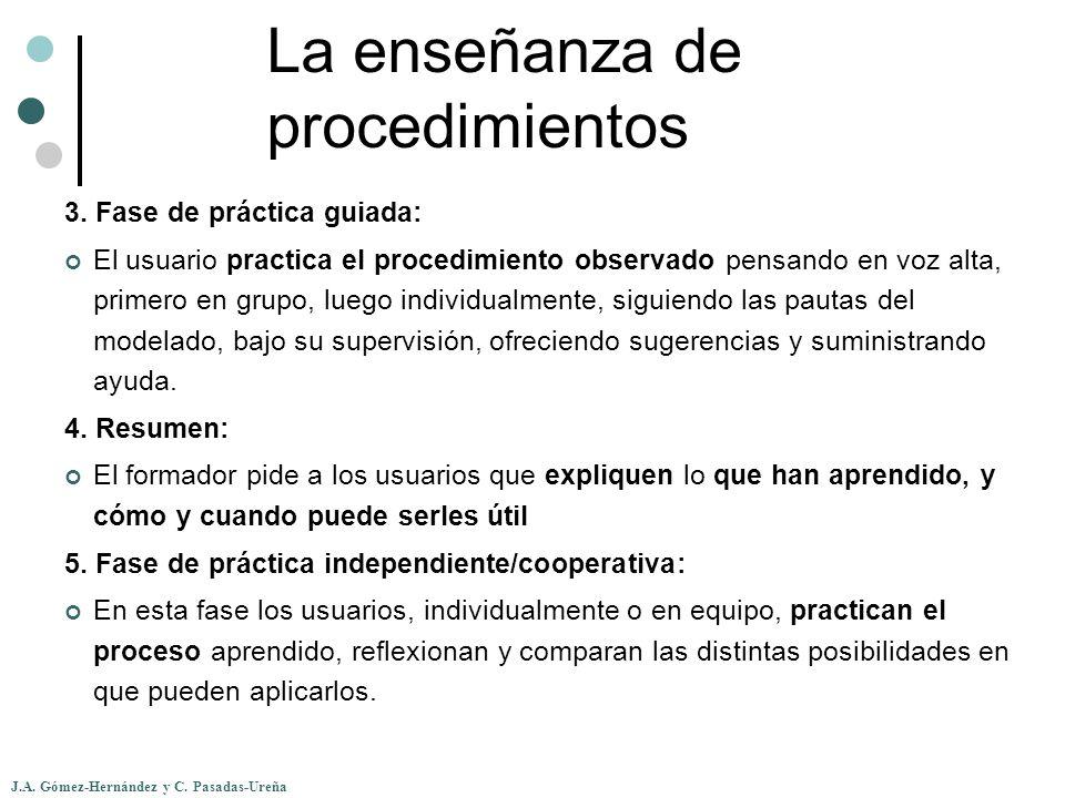 La enseñanza de procedimientos