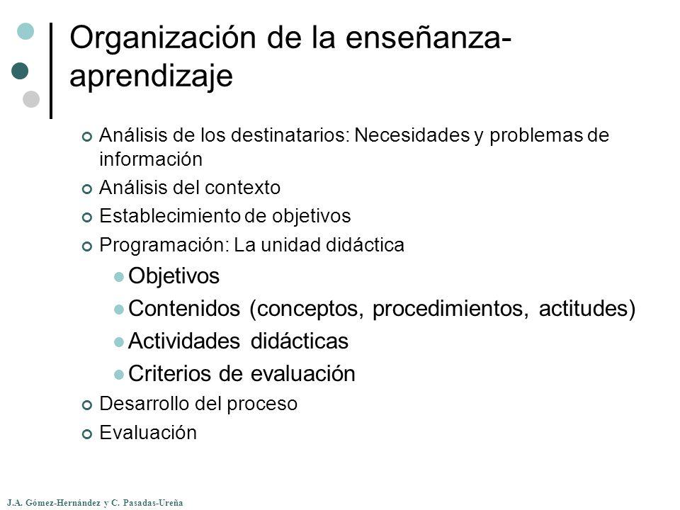 Organización de la enseñanza-aprendizaje
