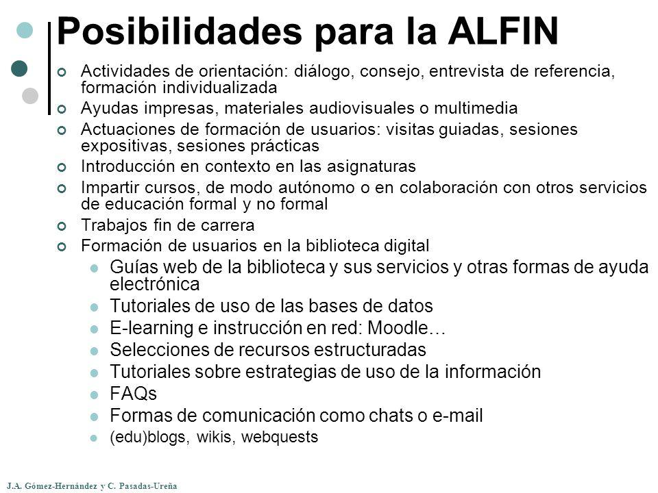 Posibilidades para la ALFIN