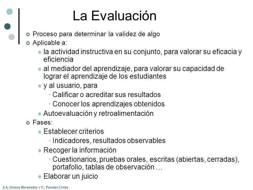 La Evaluación Proceso para determinar la validez de algo. Aplicable a: