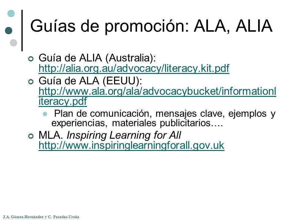 Guías de promoción: ALA, ALIA