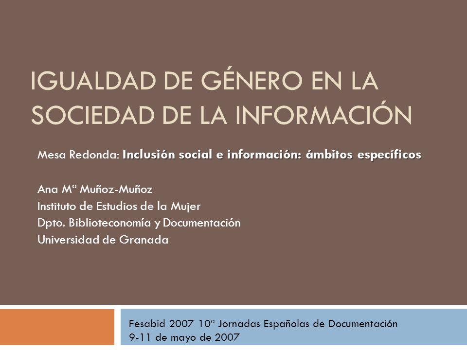 Igualdad de género en la sociedad de la información