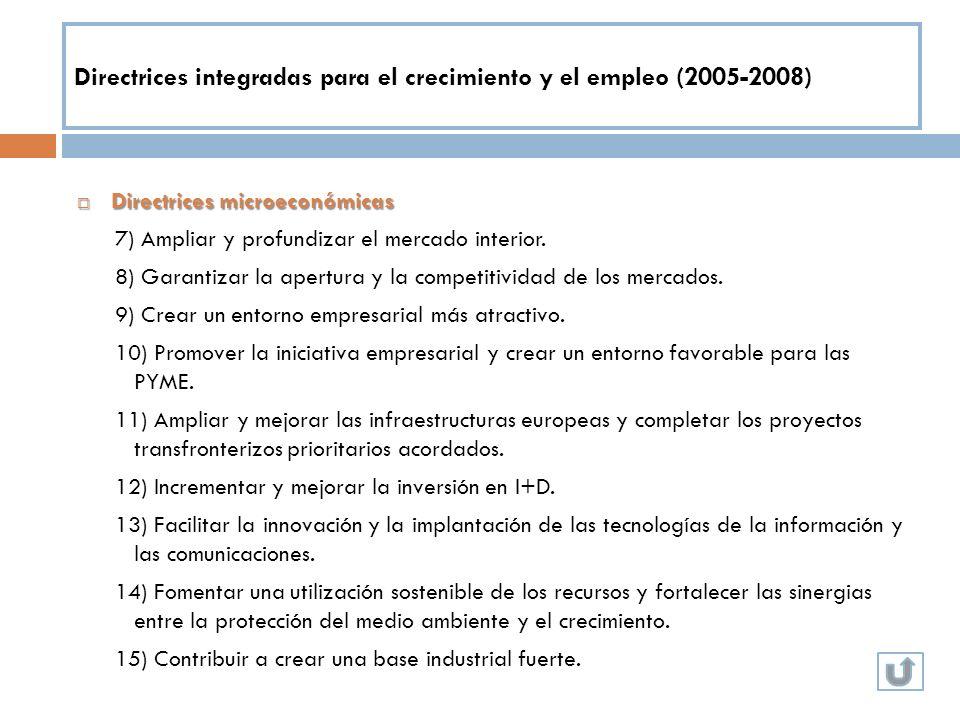 Directrices integradas para el crecimiento y el empleo (2005-2008)