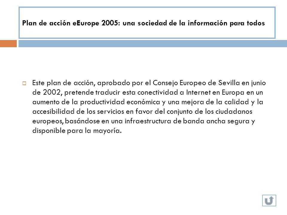 Plan de acción eEurope 2005: una sociedad de la información para todos