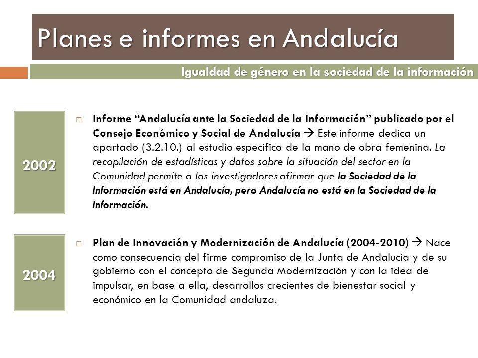 Planes e informes en Andalucía