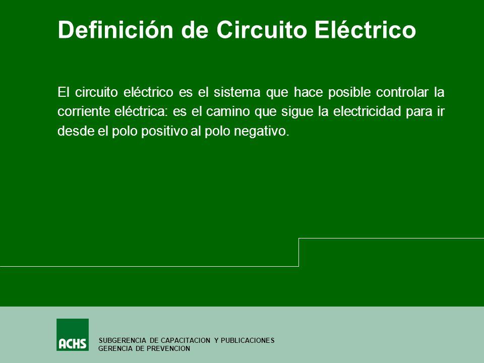Circuito Que Realiza La Sangre : Prevención de riesgos eléctricos por un trabajo sano y