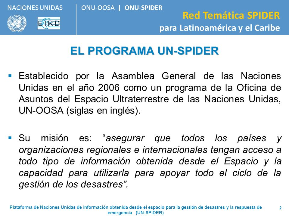3/24/2017 EL PROGRAMA UN-SPIDER.