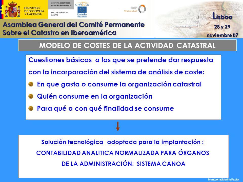 MODELO DE COSTES DE LA ACTIVIDAD CATASTRAL