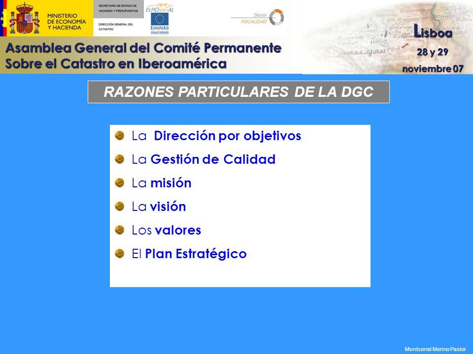 RAZONES PARTICULARES DE LA DGC