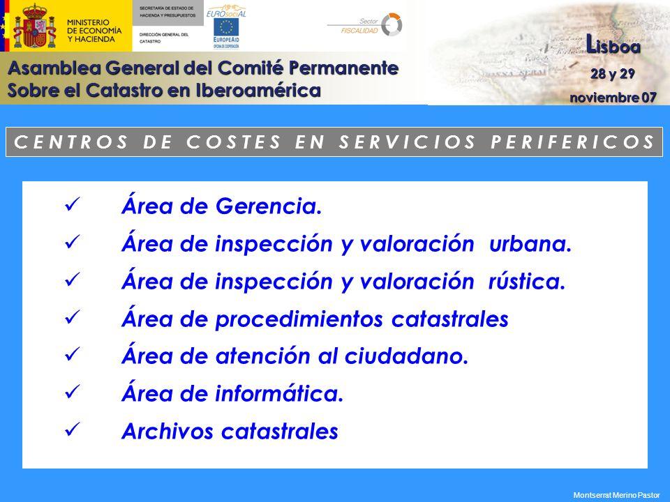 Área de inspección y valoración urbana.