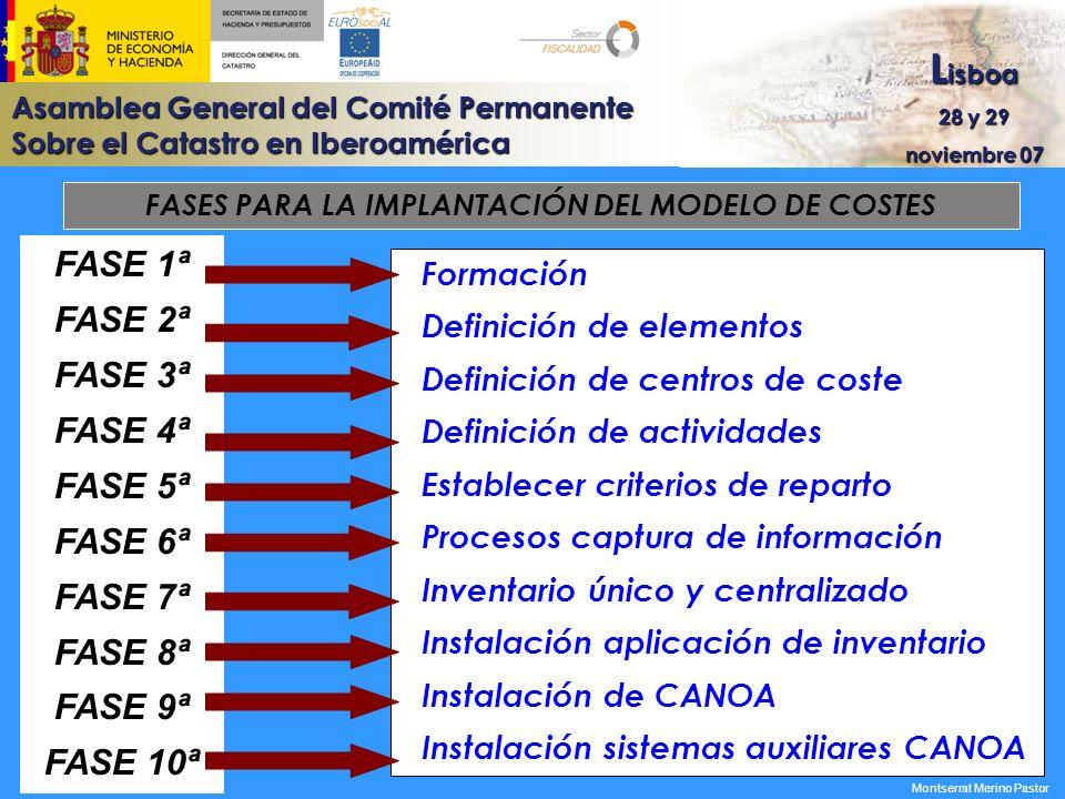 FASES PARA LA IMPLANTACIÓN DEL MODELO DE COSTES