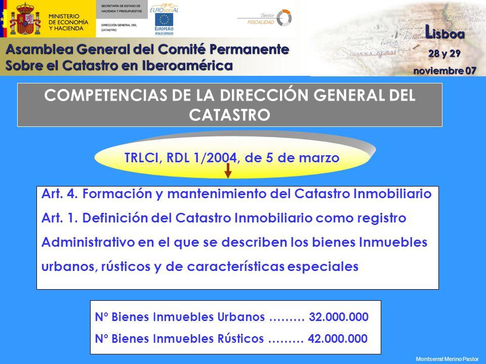 COMPETENCIAS DE LA DIRECCIÓN GENERAL DEL CATASTRO