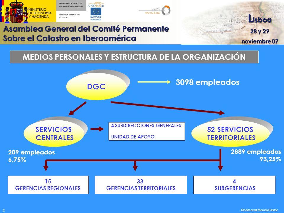 MEDIOS PERSONALES Y ESTRUCTURA DE LA ORGANIZACIÓN DGC 3098 empleados