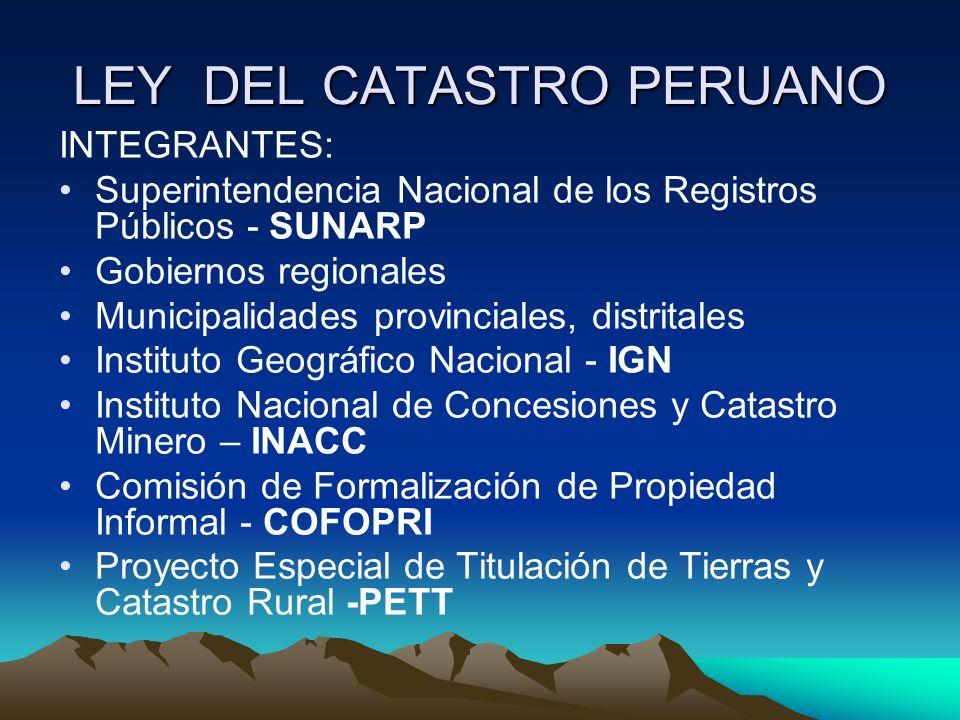 LEY DEL CATASTRO PERUANO