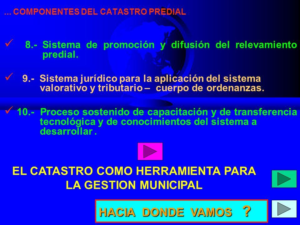 EL CATASTRO COMO HERRAMIENTA PARA LA GESTION MUNICIPAL
