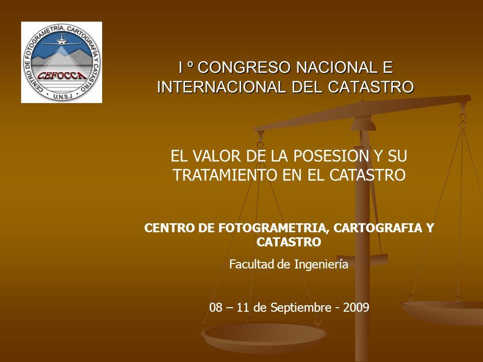 I º CONGRESO NACIONAL E INTERNACIONAL DEL CATASTRO