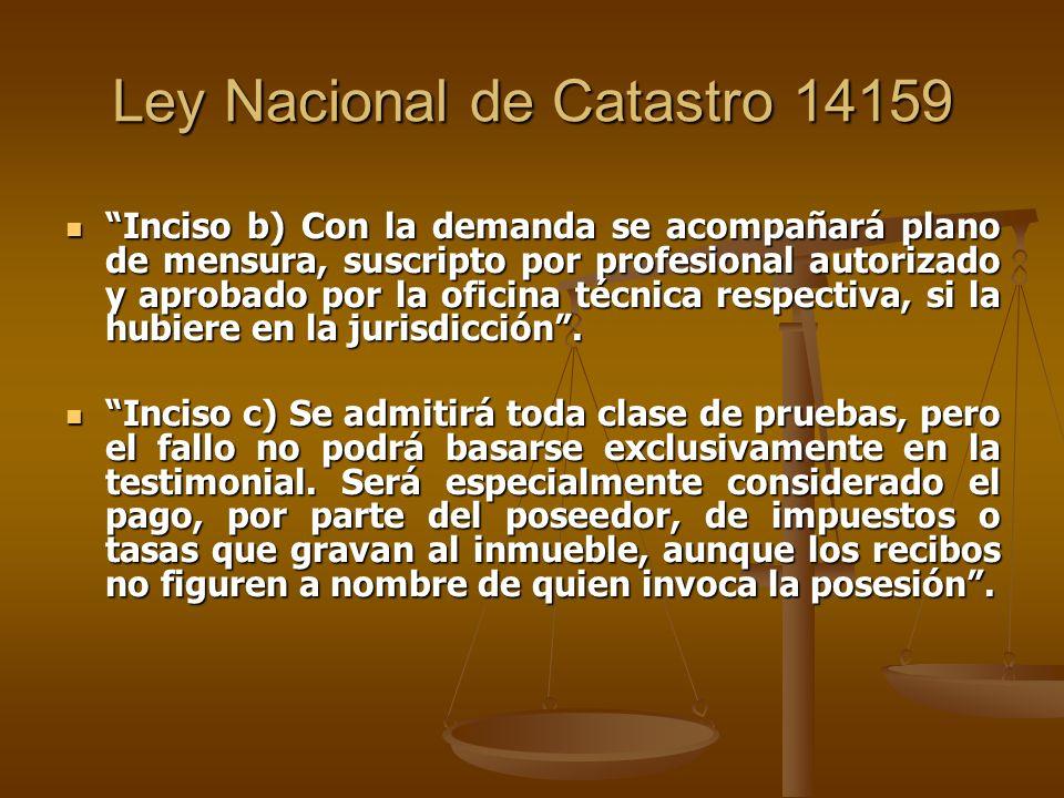 Ley Nacional de Catastro 14159