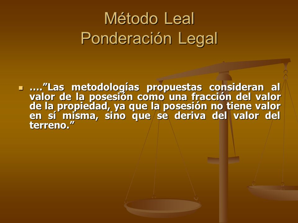 Método Leal Ponderación Legal